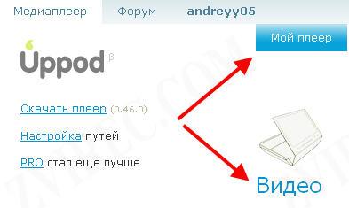 как вставить видео на сайт с помощью uppod.ru